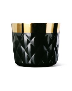 Sieger Sip Of Gold Black Cushion